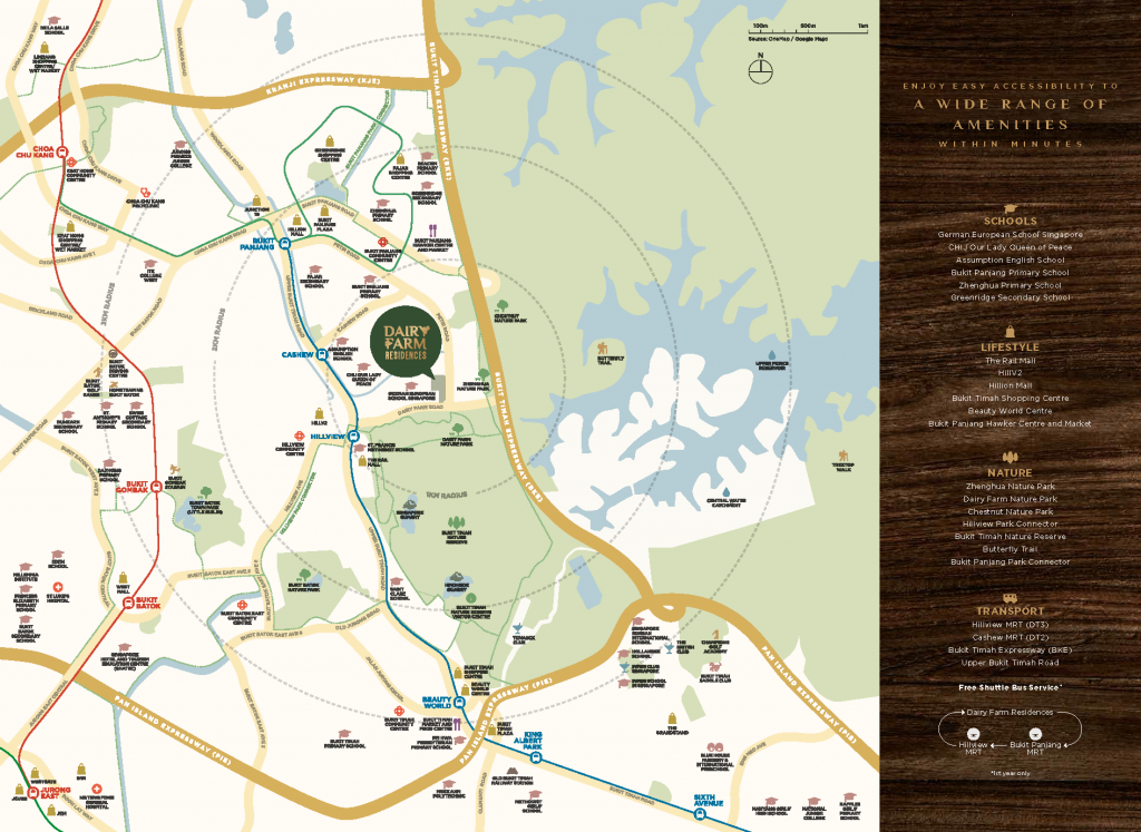 Dairy Farm Residences brochure-location-map-near-hillview-mrt-singapore